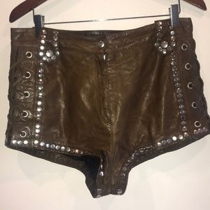 H&M Fall 2013/14 collection leather shorts